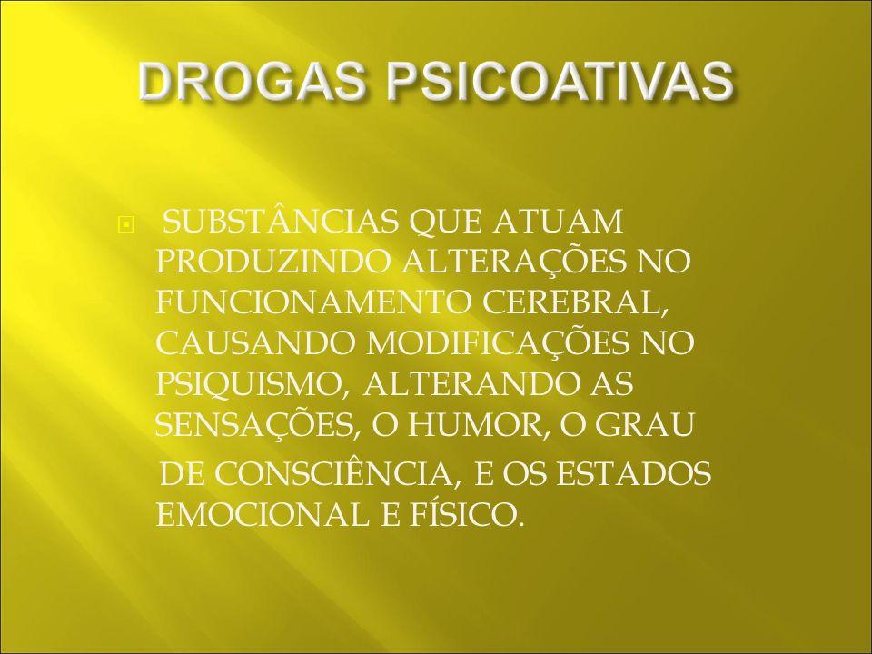 ESTIMULANTES DEPRESSORAS PERTURBADORAS