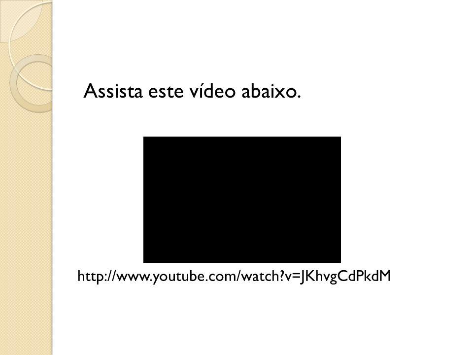 Assista este vídeo abaixo. http://www.youtube.com/watch?v=JKhvgCdPkdM