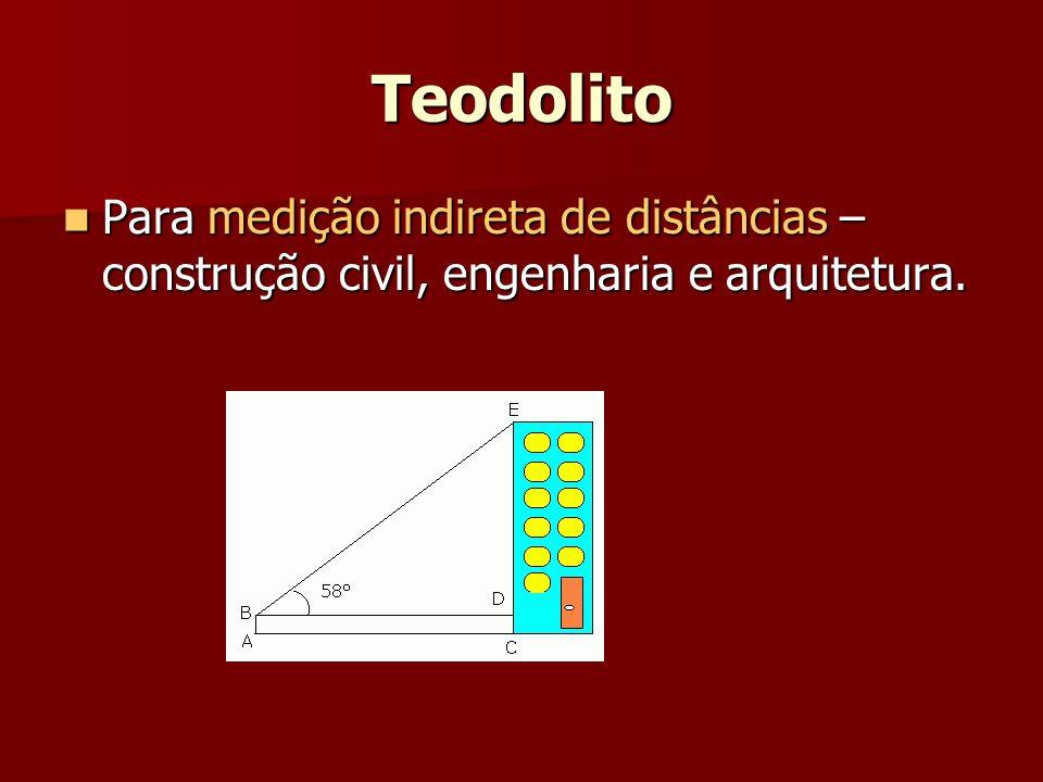 Teodolito Para medição indireta de distâncias – construção civil, engenharia e arquitetura. Para medição indireta de distâncias – construção civil, en