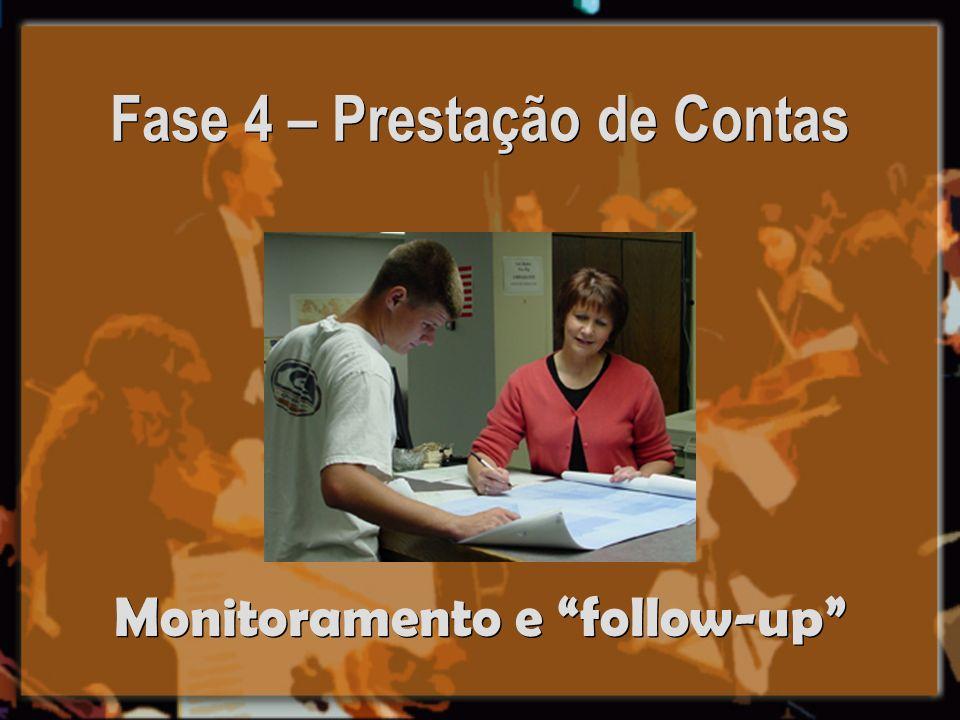 Fase 4 – Prestação de Contas Monitoramento e follow-up