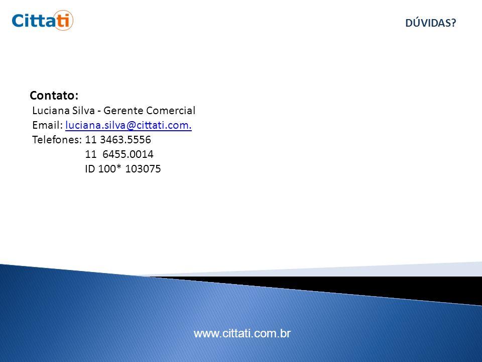 www.cittati.com.br DÚVIDAS.