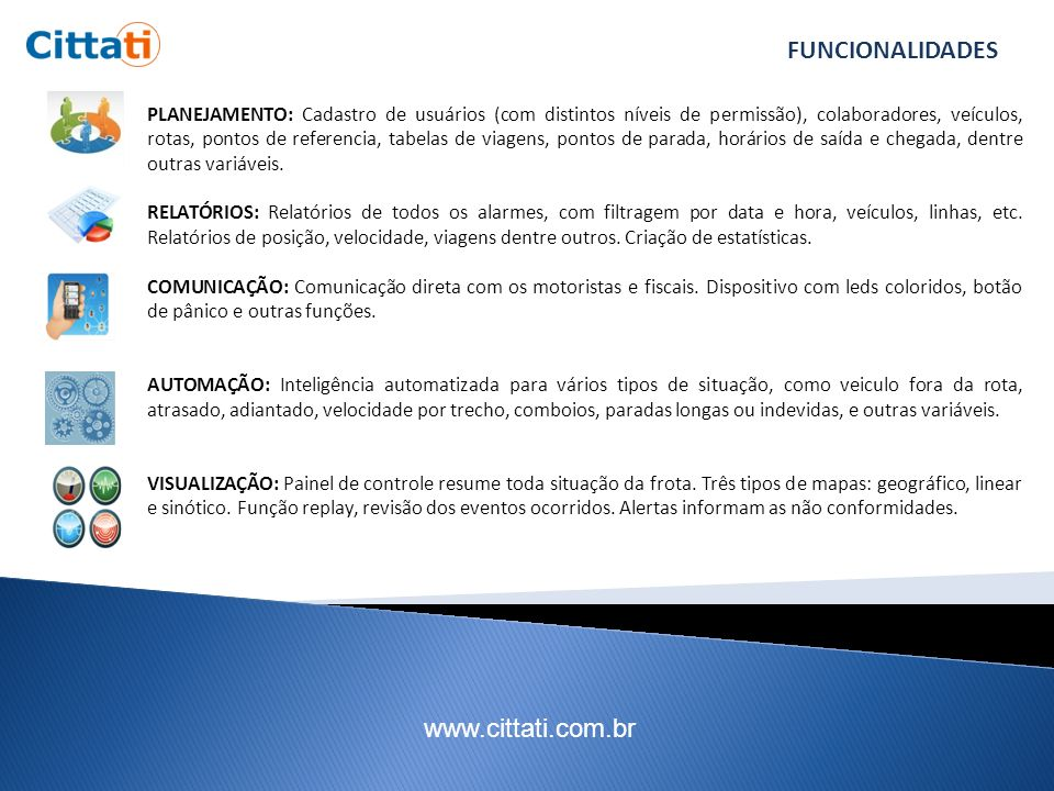 www.cittati.com.br INTERFACE DO SISTEMA