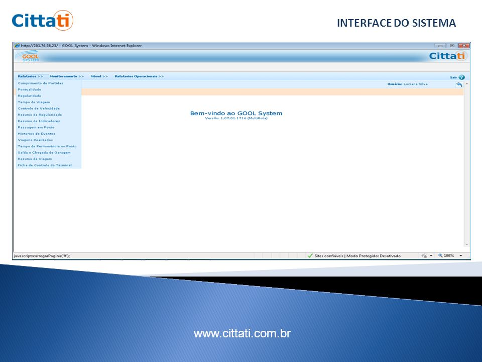 www.cittati.com.br INTERFACE DO SISTEMA