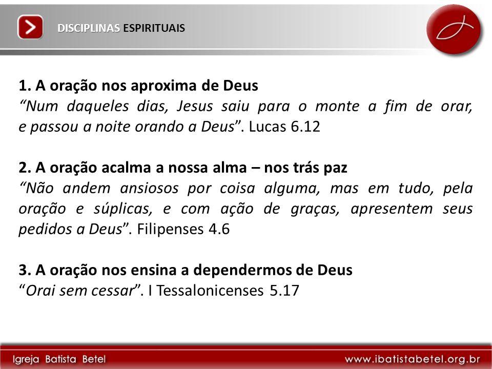 DISCIPLINAS DISCIPLINAS ESPIRITUAIS 1.