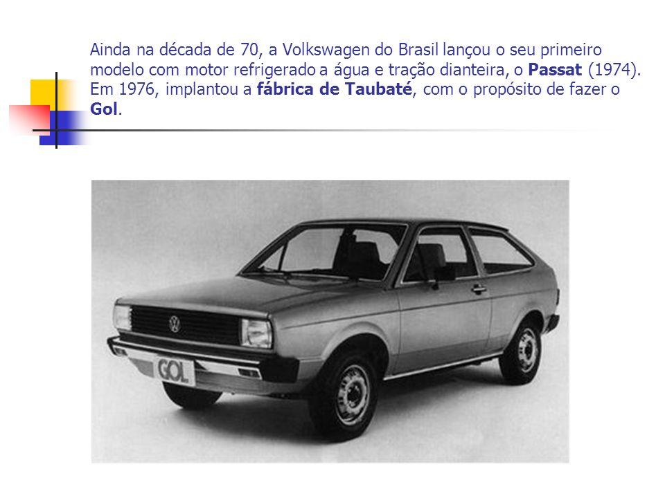 Ainda na década de 70, a Volkswagen do Brasil lançou o seu primeiro modelo com motor refrigerado a água e tração dianteira, o Passat (1974). Em 1976,