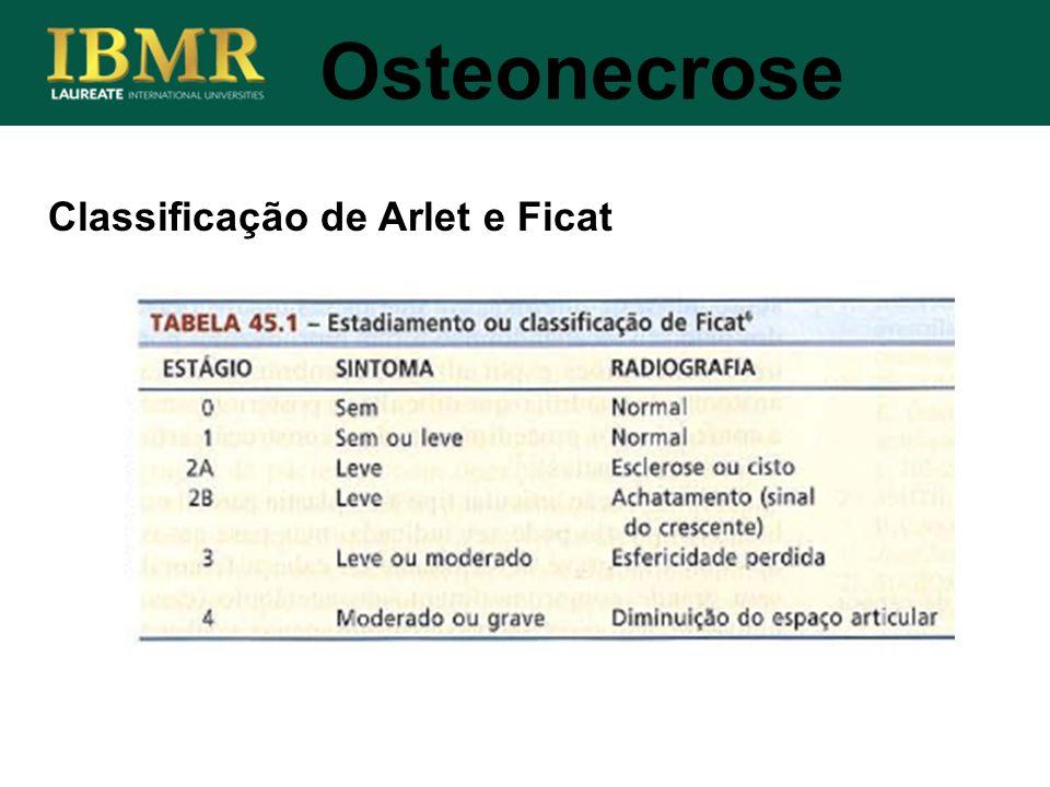 Classificação de Arlet e Ficat Osteonecrose