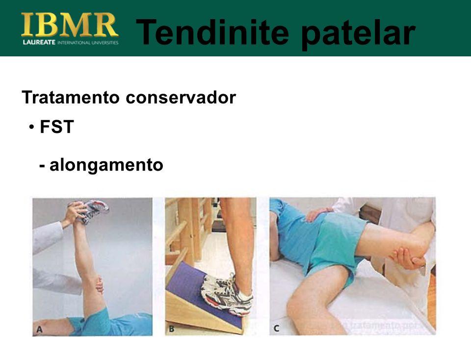 Tratamento conservador Tendinite patelar FST - alongamento