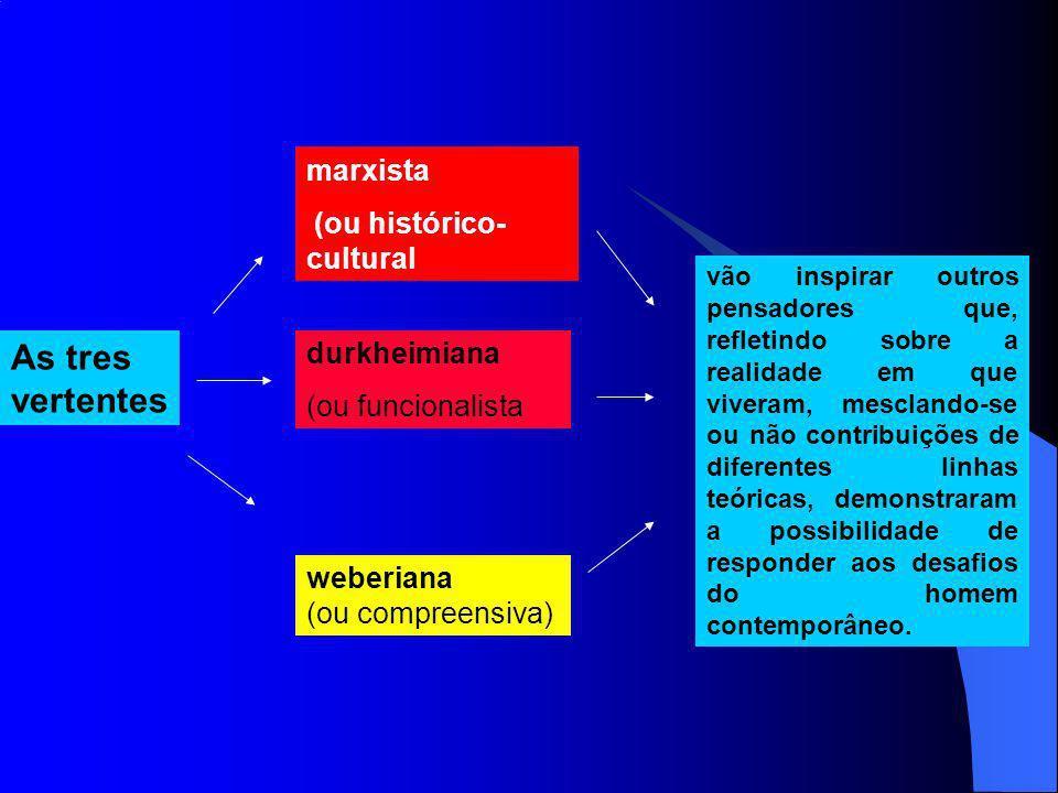 Para Marx, a preocupação é conjunto dos indivíduos inseridos nas classes sociais.