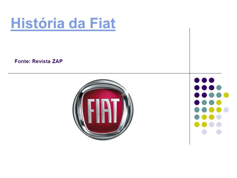 História da Fiat História da Fiat Fonte: Revista ZAP
