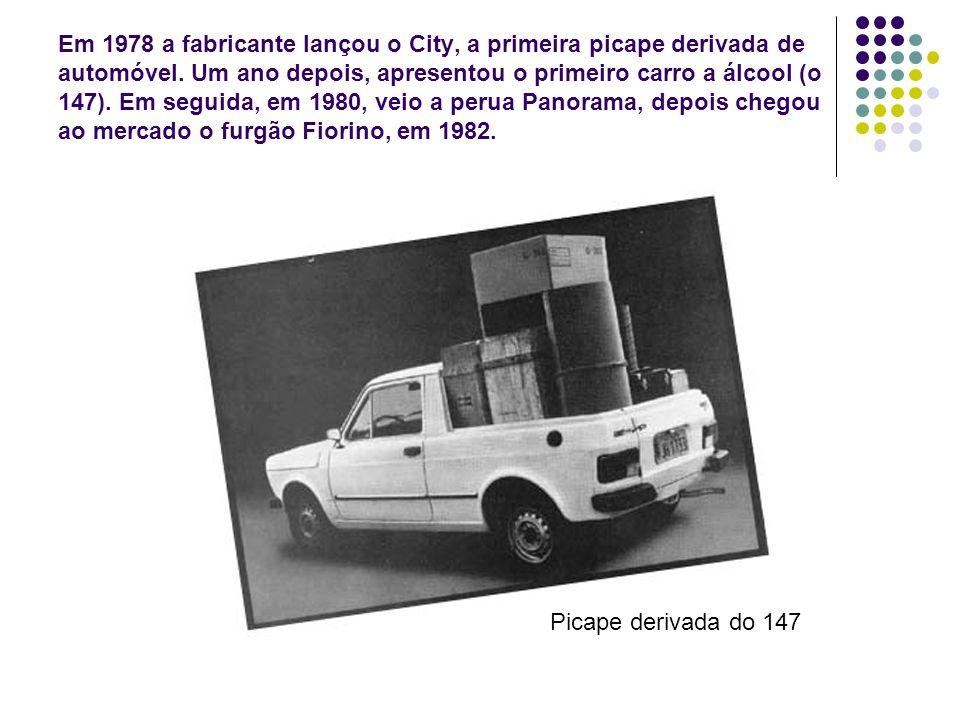 Em 1978 a fabricante lançou o City, a primeira picape derivada de automóvel. Um ano depois, apresentou o primeiro carro a álcool (o 147). Em seguida,
