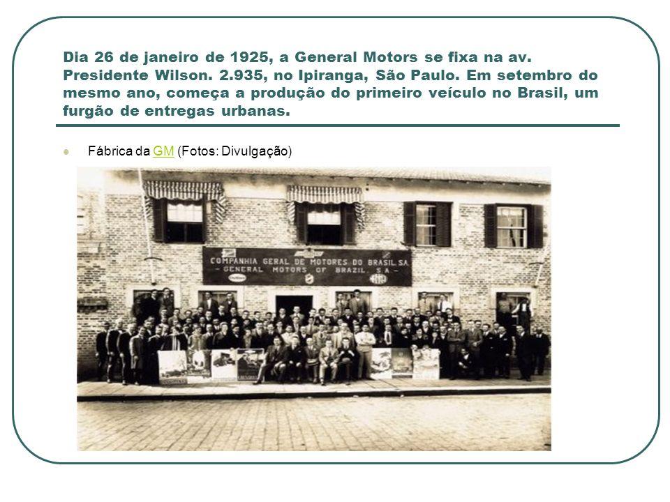 Em 1928 começa a construção da fábrica em São Caetano do Sul, que só é inaugurada em 1930.
