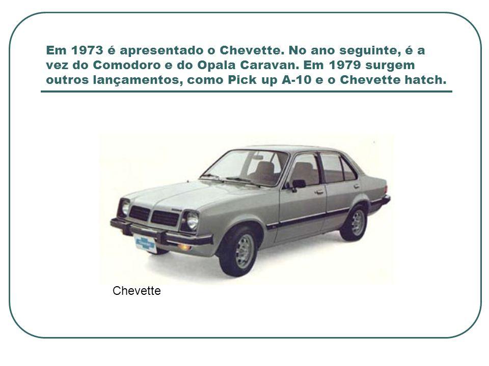 O Chevreleasing chega em 1980.O A-60 em 1981. Já em 1982 começa a produção do Monza.