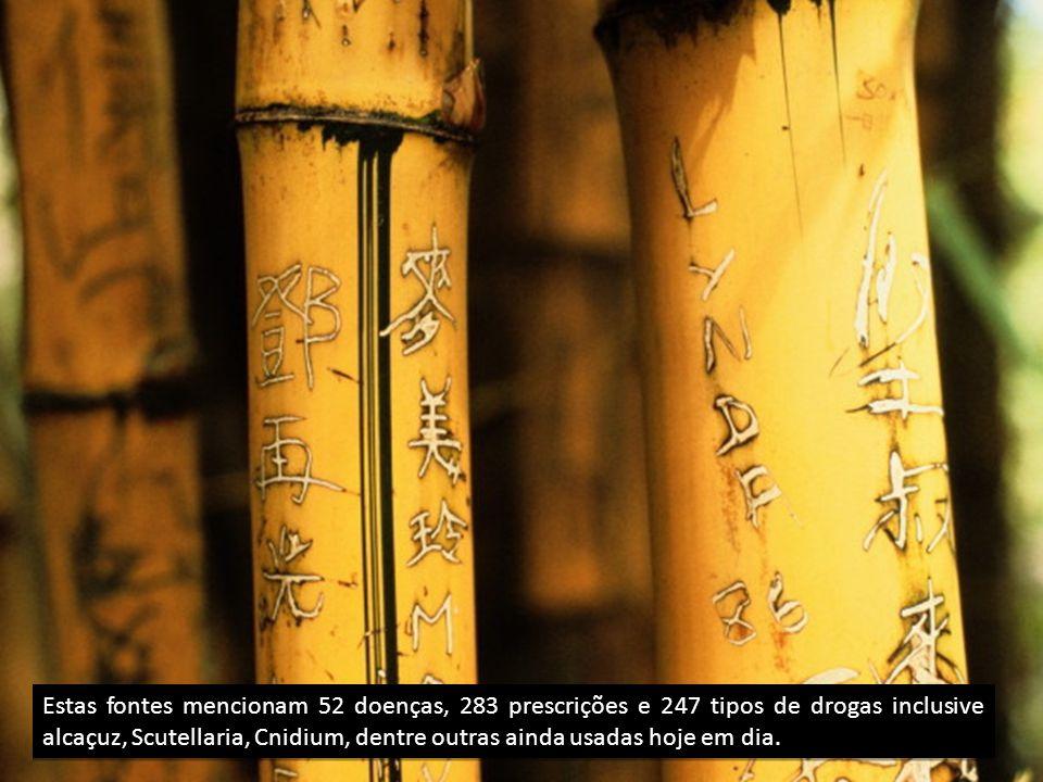 Estas fontes mencionam 52 doenças, 283 prescrições e 247 tipos de drogas inclusive alcaçuz, Scutellaria, Cnidium, dentre outras ainda usadas hoje em dia.