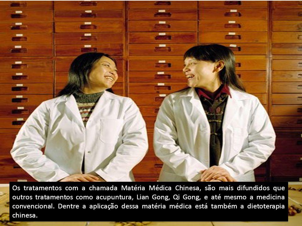 Os tratamentos com a chamada Matéria Médica Chinesa, são mais difundidos que outros tratamentos como acupuntura, Lian Gong, Qi Gong, e até mesmo a medicina convencional.