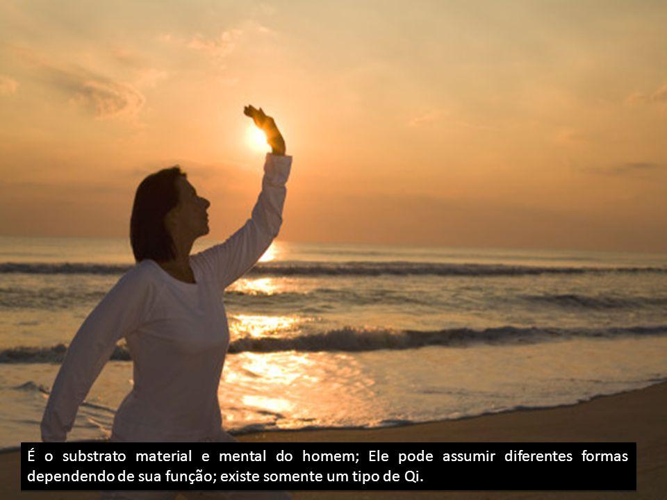 É o substrato material e mental do homem; Ele pode assumir diferentes formas dependendo de sua função; existe somente um tipo de Qi.