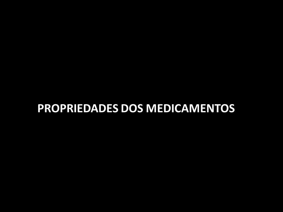 PROPRIEDADES DOS MEDICAMENTOS