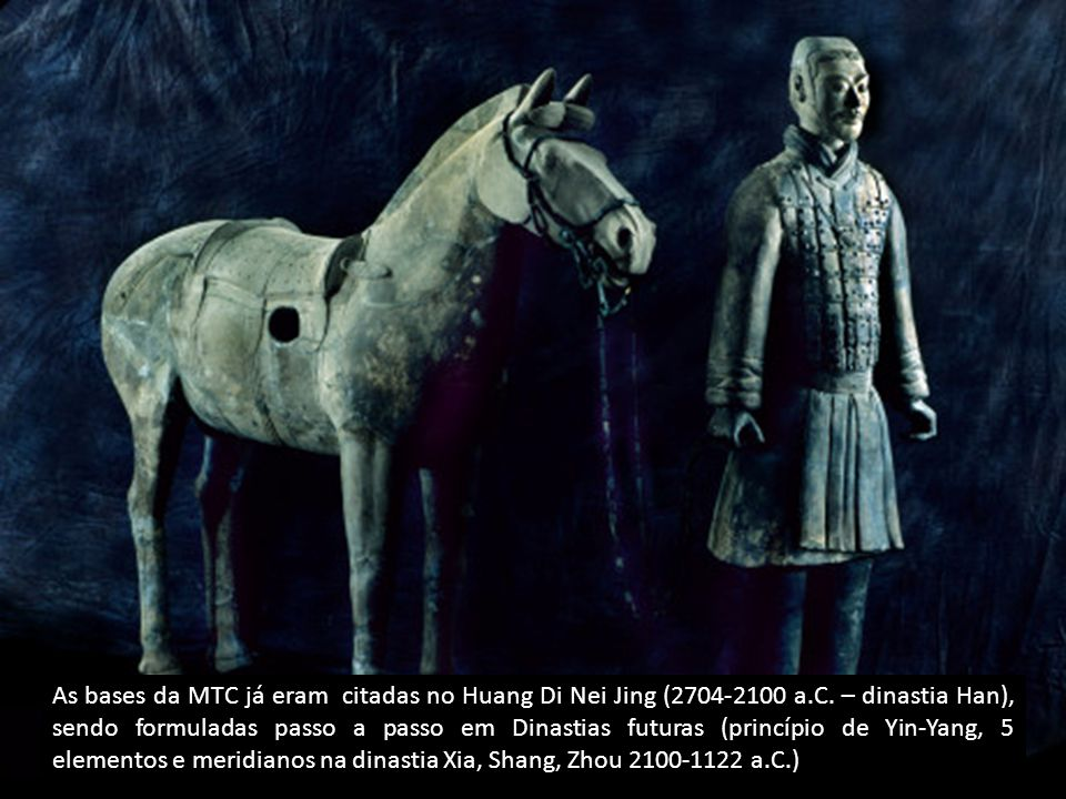 De maneira correspondente, durante esse período inicial, as pessoas das Dinastias Hsia e Shang (séc.