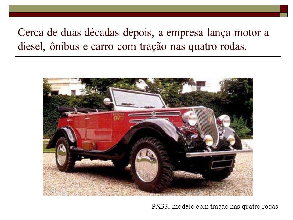 Cerca de duas décadas depois, a empresa lança motor a diesel, ônibus e carro com tração nas quatro rodas. PX33, modelo com tração nas quatro rodas