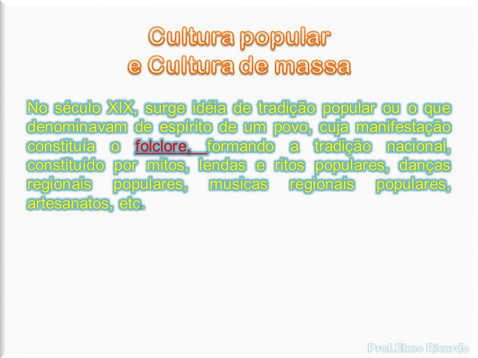 Cultura passa a ser lazer e entretenimento de fácil fruição, sem qualidade e não mais expressão artística e intelectual, o que vulgariza a arte e o conhecimento.