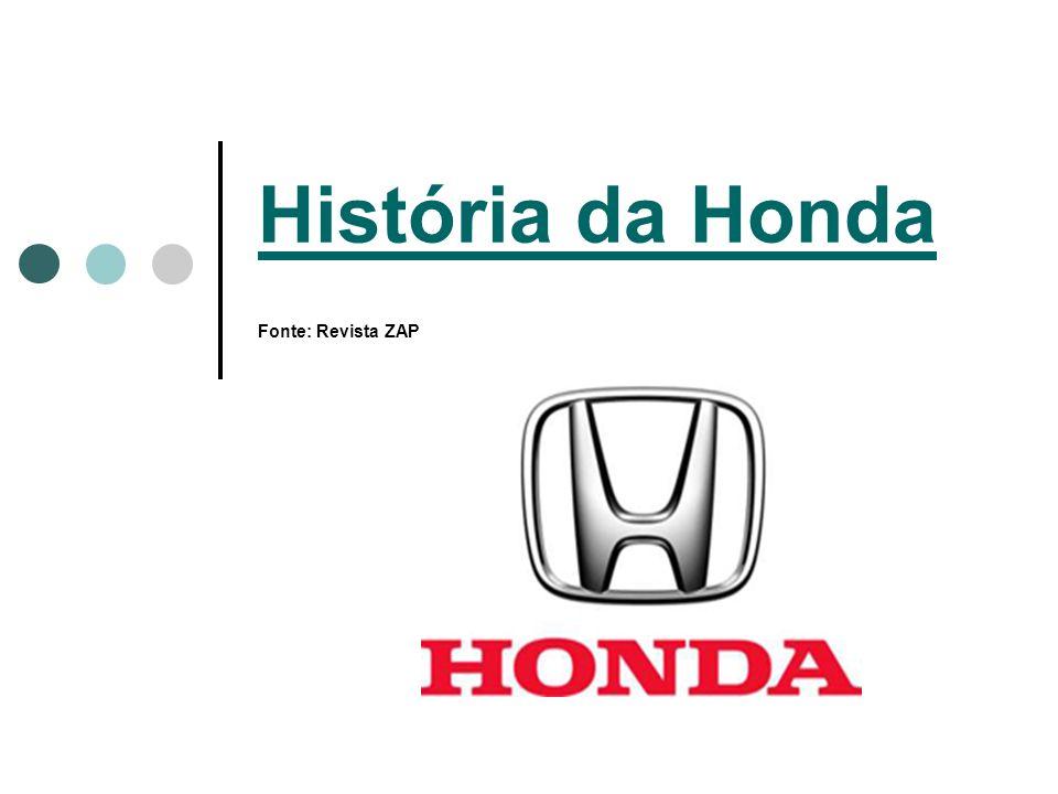 História da Honda História da Honda Fonte: Revista ZAP