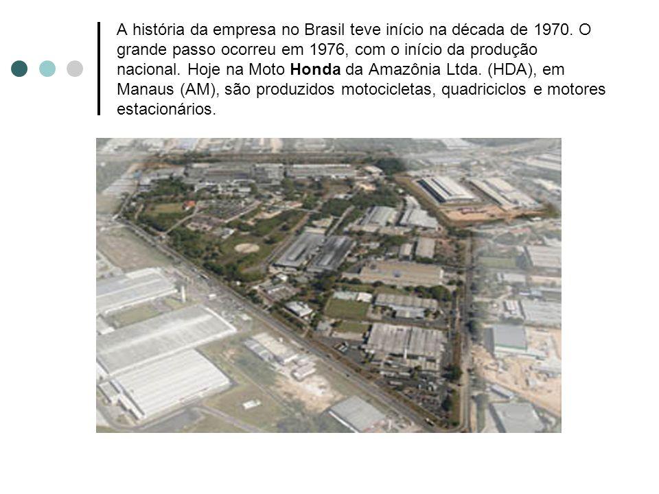 A história da empresa no Brasil teve início na década de 1970. O grande passo ocorreu em 1976, com o início da produção nacional. Hoje na Moto Honda d