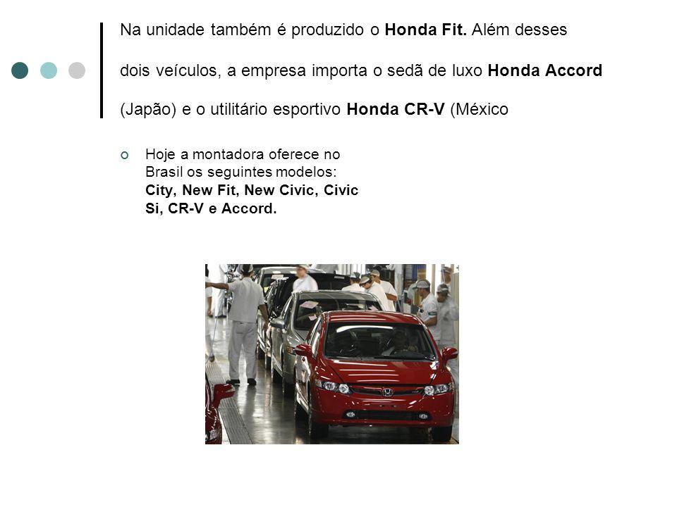Na unidade também é produzido o Honda Fit. Além desses dois veículos, a empresa importa o sedã de luxo Honda Accord (Japão) e o utilitário esportivo H