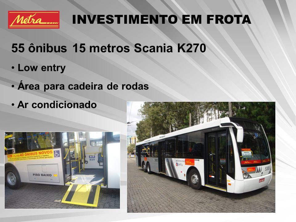 11 ônibus 18 metros articulados Mercedes O500UA Low entry Ar condicionado Área para cadeira de rodas INVESTIMENTO EM FROTA