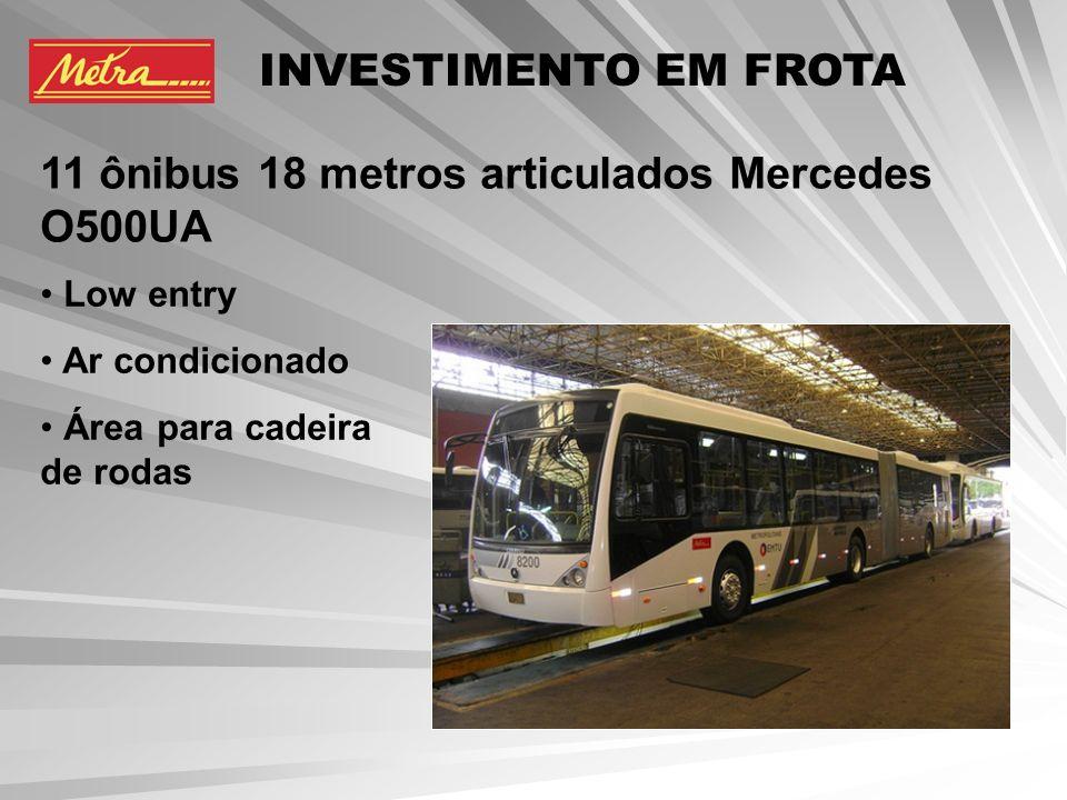 3 trólebus 12,5 metros Mercedes O500U ELETRA Low entry Área para cadeira de rodas Poluição zero INVESTIMENTO EM FROTA