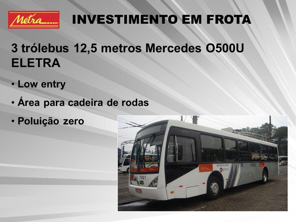 6 ônibus híbridos Multieixo / ELETRA Low entry Baixo nível de emissões de poluentes INVESTIMENTO EM FROTA