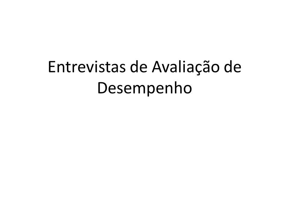 Entrevistas de Avaliação: Conduzindo a entrevista de Avaliação 5.