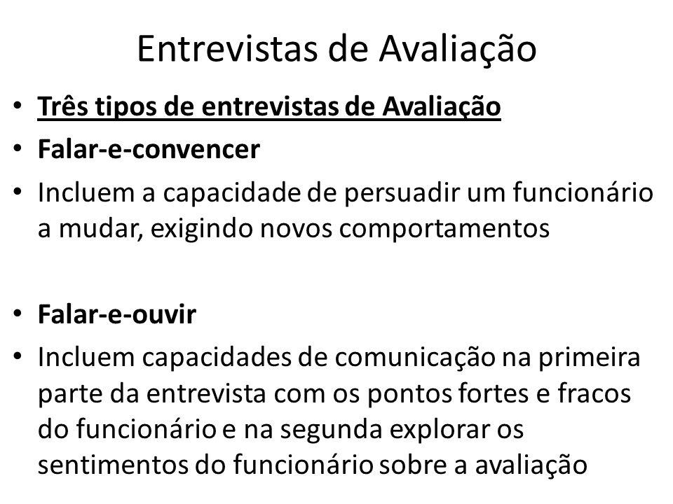 Entrevistas de Avaliação: Conduzindo a entrevista de Avaliação 8.
