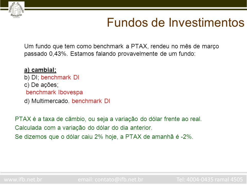 Fundos de Investimentos Um investidor adquiriu cotas de um fundo de renda fixa que adota a conversão pela cota de fechamento de aplicação e resgate.