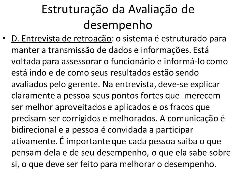 Estruturação da Avaliação de desempenho 2.
