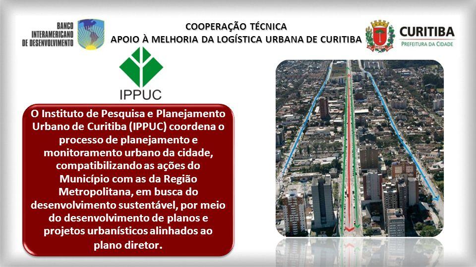 O Instituto de Pesquisa e Planejamento Urbano de Curitiba (IPPUC) coordena o processo de planejamento e monitoramento urbano da cidade, compatibilizan