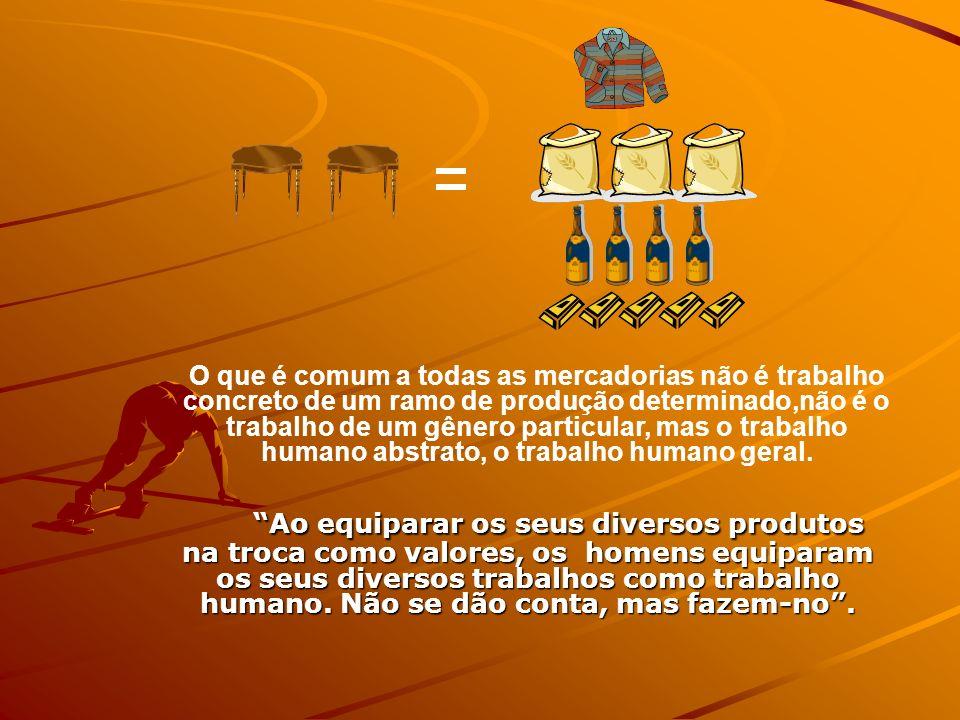 Ao equiparar os seus diversos produtos na troca como valores, os homens equiparam os seus diversos trabalhos como trabalho humano. Não se dão conta, m