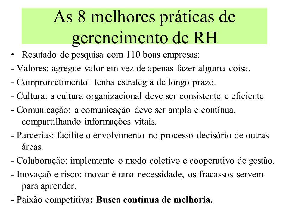 Pricípios para a costrução do futuro 1.A estratégia de RH deve estar ancorada na estratégia da empresa. 2.Gestão de RH trata de relacionamentos. 3.A á