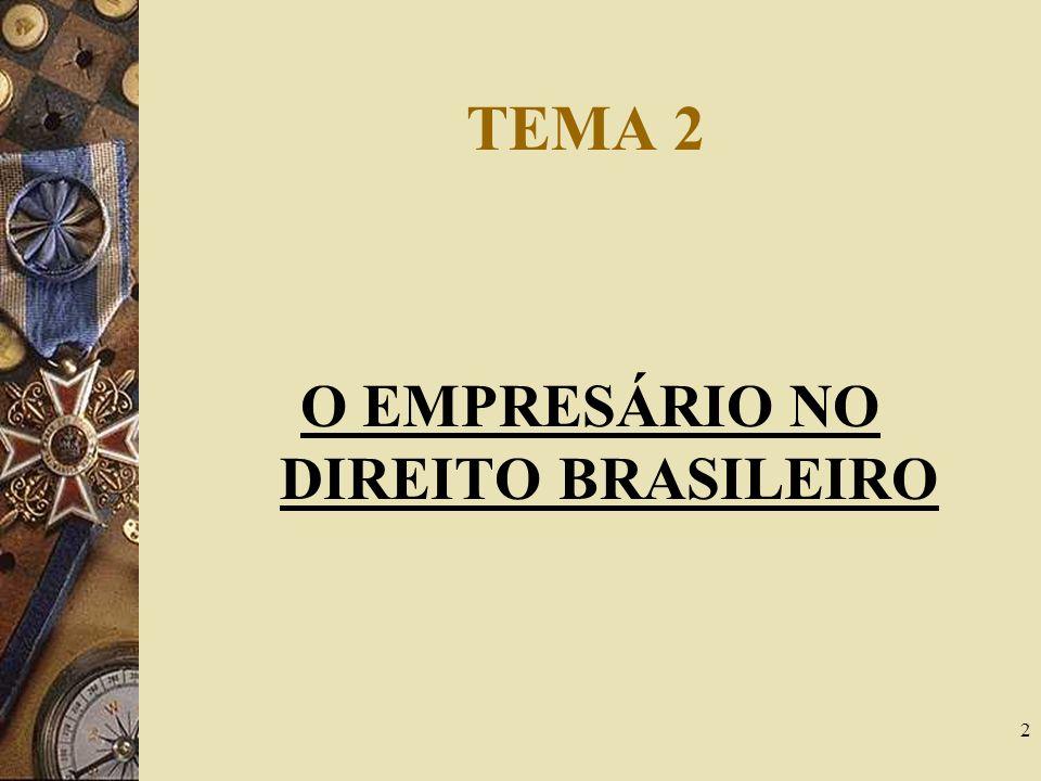 2 TEMA 2 O EMPRESÁRIO NO DIREITO BRASILEIRO