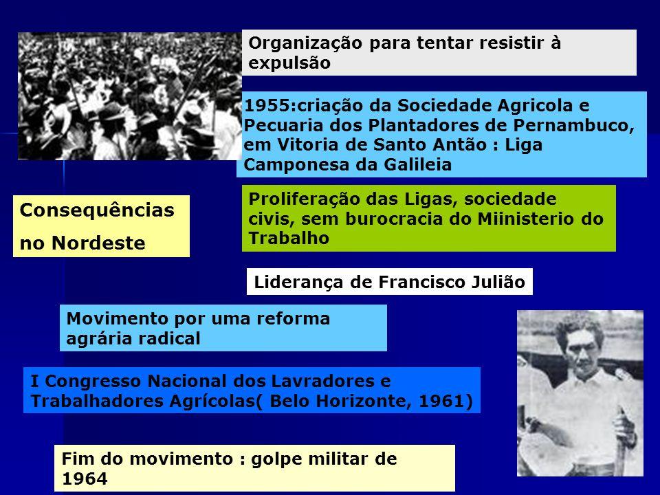 Consequências no Nordeste Organização para tentar resistir à expulsão 1955:criação da Sociedade Agricola e Pecuaria dos Plantadores de Pernambuco, em