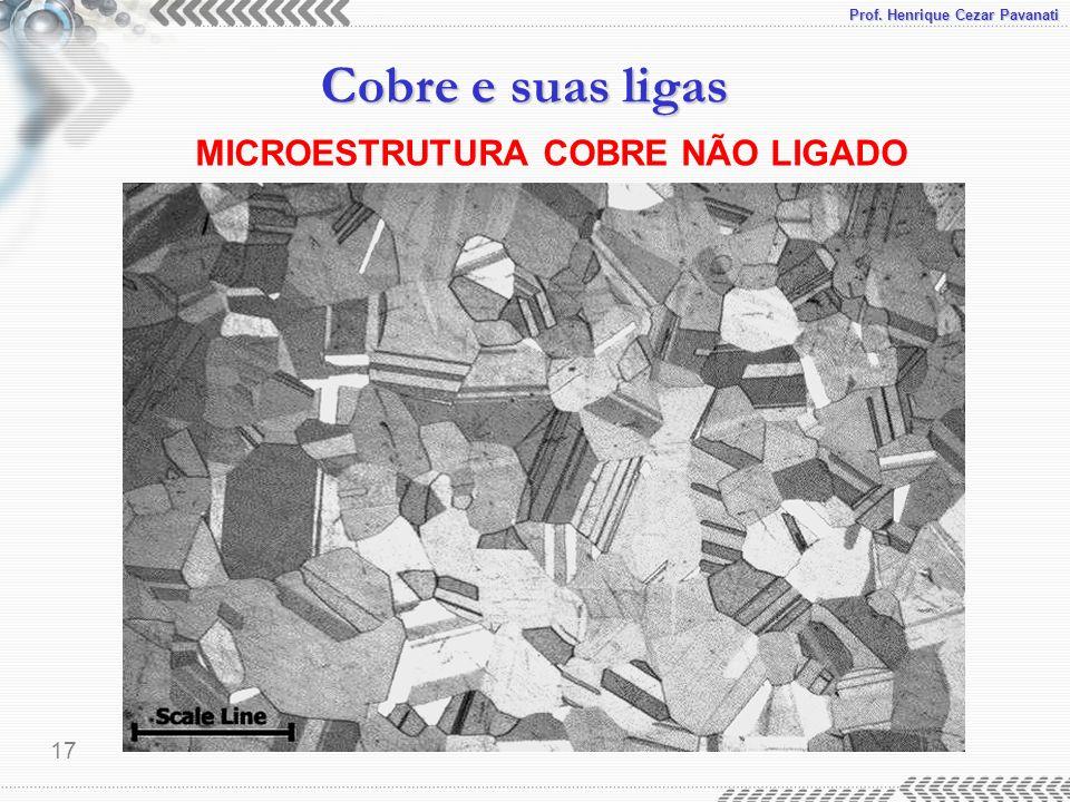 Prof. Henrique Cezar Pavanati Cobre e suas ligas 17 MICROESTRUTURA COBRE NÃO LIGADO