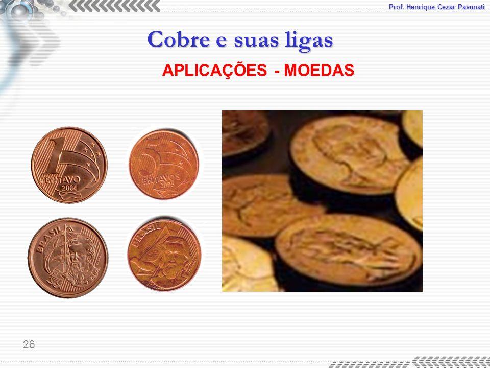 Prof. Henrique Cezar Pavanati Cobre e suas ligas 26 APLICAÇÕES - MOEDAS