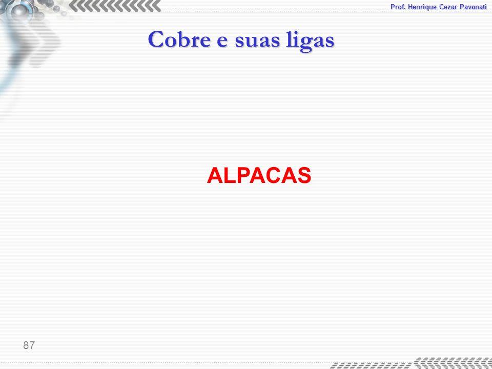 Prof. Henrique Cezar Pavanati Cobre e suas ligas 87 ALPACAS