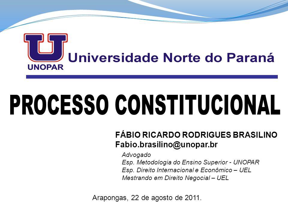 FÁBIO RICARDO RODRIGUES BRASILINO Fabio.brasilino@unopar.br Advogado Esp. Metodologia do Ensino Superior - UNOPAR Esp. Direito Internacional e Econômi