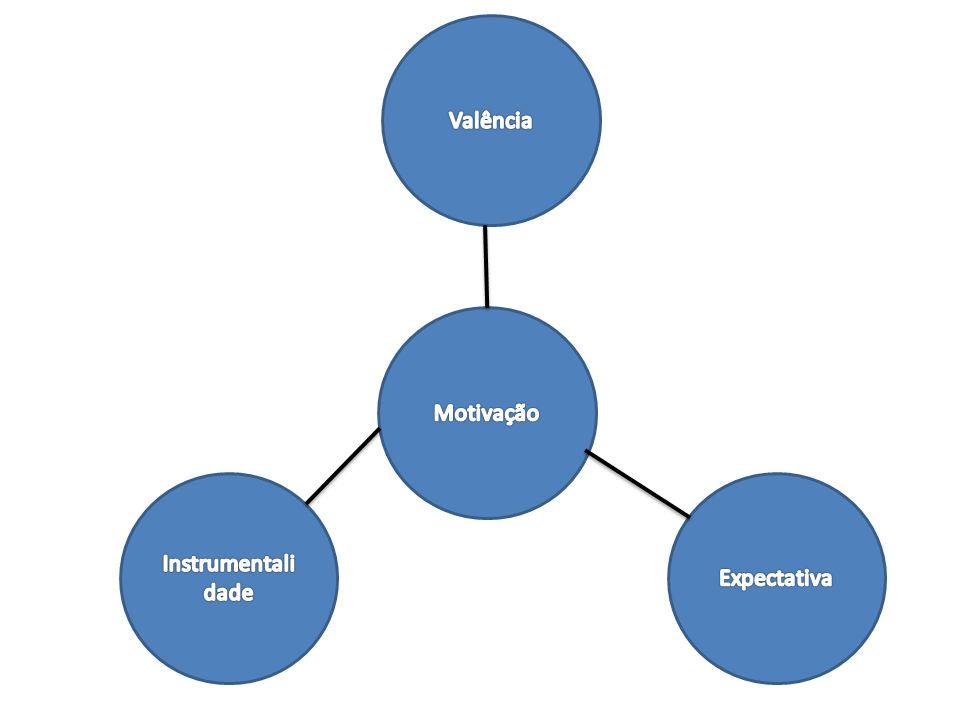 Um modelo de motivação e desempenho Valência – é uma medida de atração que um resultado exerce sobre um indivíduo ou, satisfação que ele prevê receber deste resultado.
