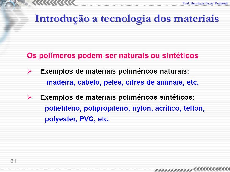 Prof. Henrique Cezar Pavanati 32 Introdução a tecnologia dos materiais Compósitos