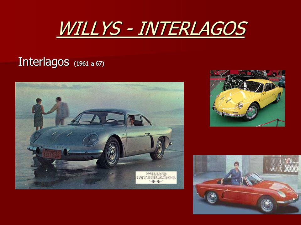 WILLYS - INTERLAGOS Interlagos (1961 a 67)