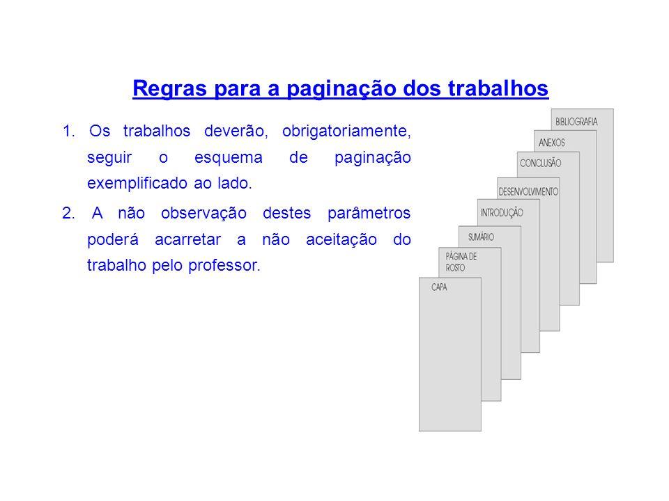 3cm 2cm PORTAL EDUCACIONAL ( Centralizado) Nome do aluno Título do trabalho e Subtítulo ( se houver) VALPARAISO DE GOIÁS 2012 Exemplos de formatação das páginas: Capa