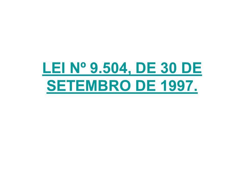 LEI Nº 9.504, DE 30 DE SETEMBRO DE 1997.