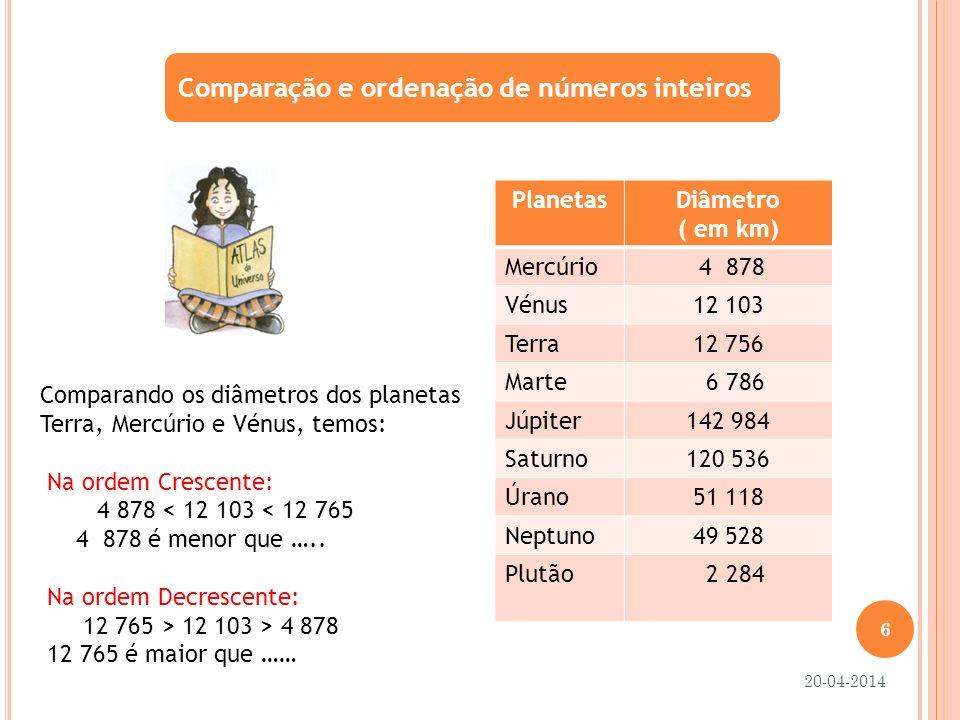 Comparação e ordenação de nº decimais Para comparar 2 números: 1º Comparam-se as partes inteiras.