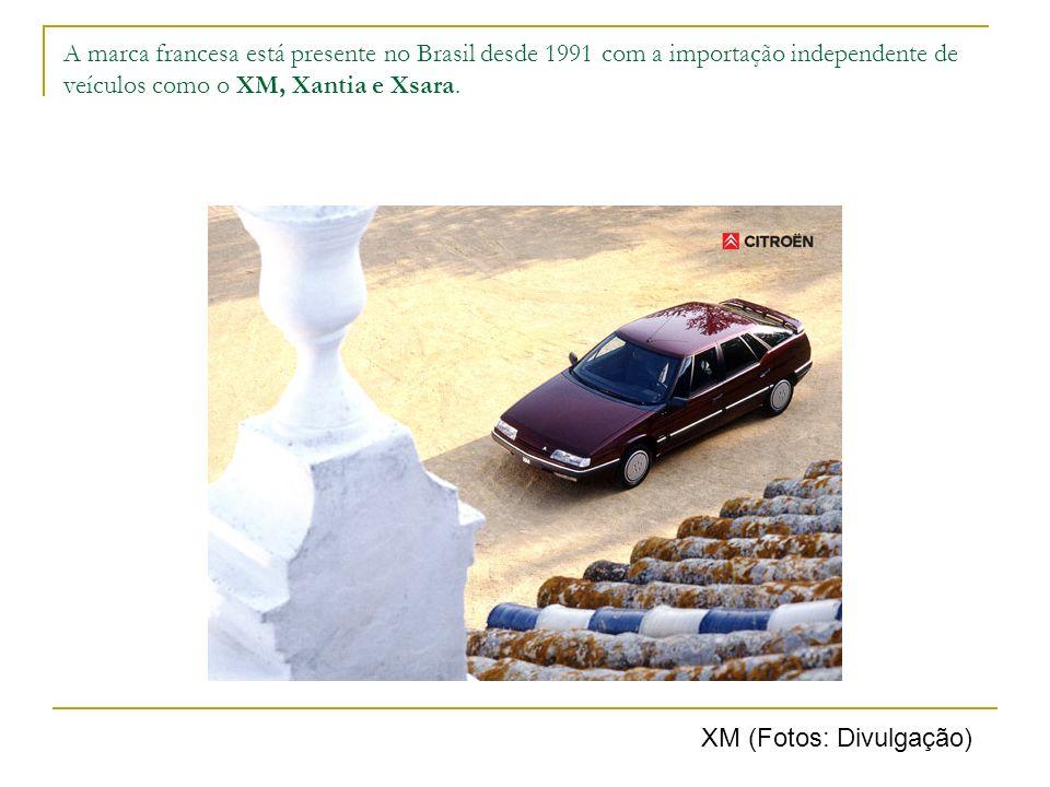 A marca francesa está presente no Brasil desde 1991 com a importação independente de veículos como o XM, Xantia e Xsara. XM (Fotos: Divulgação)
