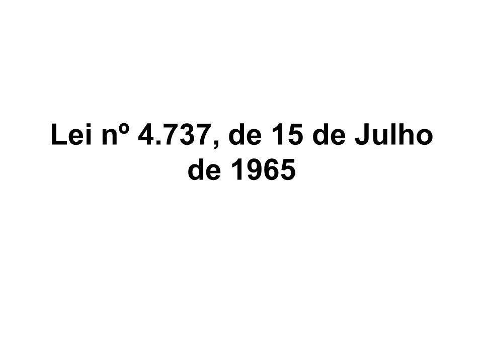 Lei nº 4.737, de 15 de Julho de 1965